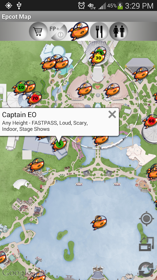 Map for Disney World - Lite - screenshot