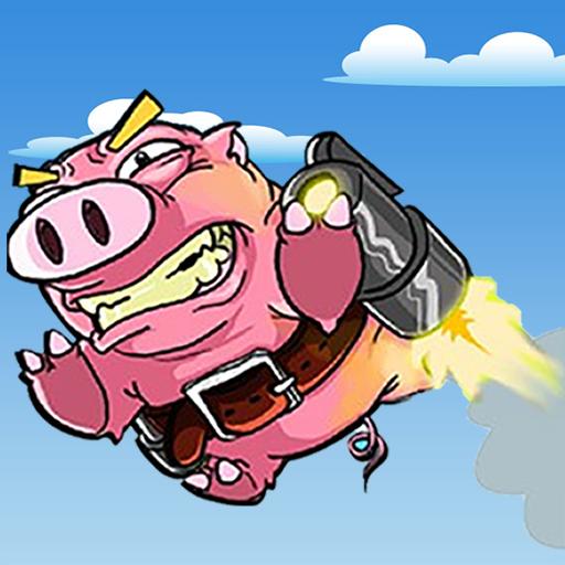 Jetpack Pig Funride LOGO-APP點子