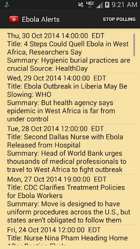 Ebola Alerts