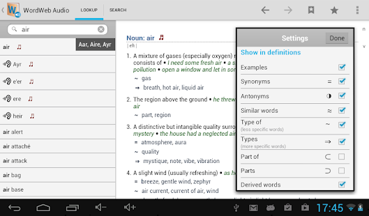 WordWeb Audio Dictionary - screenshot thumbnail