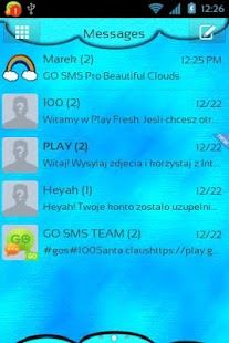 GO SMS Pro Beautiful Clouds - screenshot thumbnail