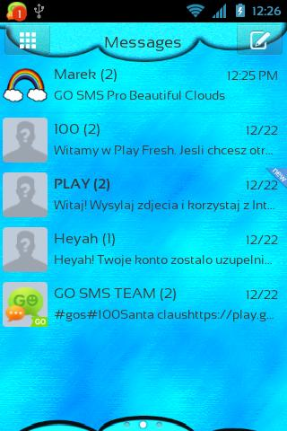 GO SMS Pro Beautiful Clouds - screenshot