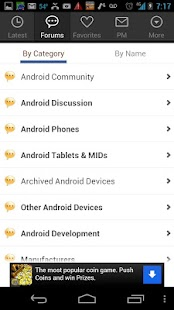 Android Forums - screenshot thumbnail