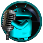 poweramp skin droid lightblue icon