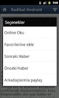 Screenshot of Radikal Android Haber