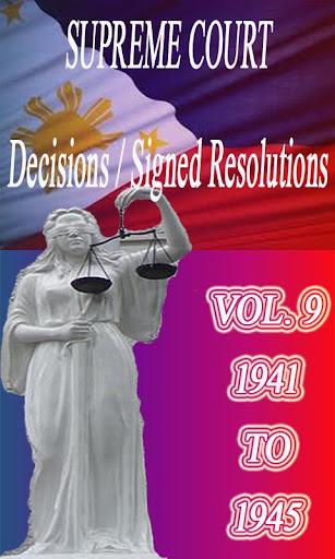 Phil Supreme Court Vol. 9