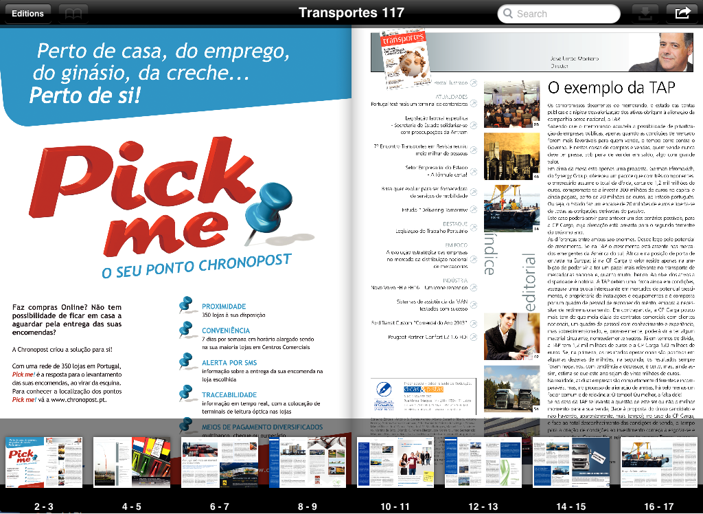 Transportes em Revista- screenshot