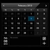 Droid Calendar Widget