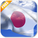 3D Japan Flag Live Wallpaper icon