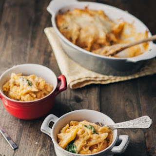 Sweet Potato and Spinach Mac and Cheese.