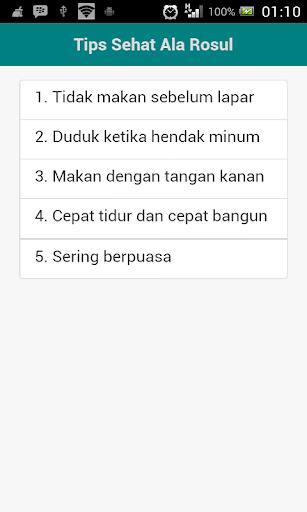 Tips Sehat Ala Rasul