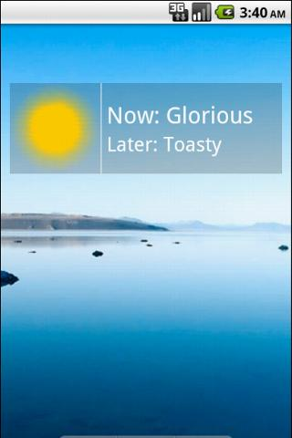Always Sunny Weather Widget - screenshot