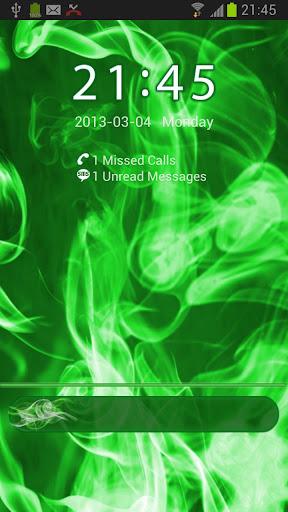 ロッカー緑の煙のテーマをGO