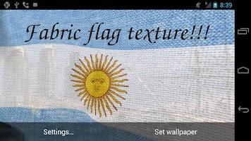 Screenshot of 3D Argentina Flag LWP +