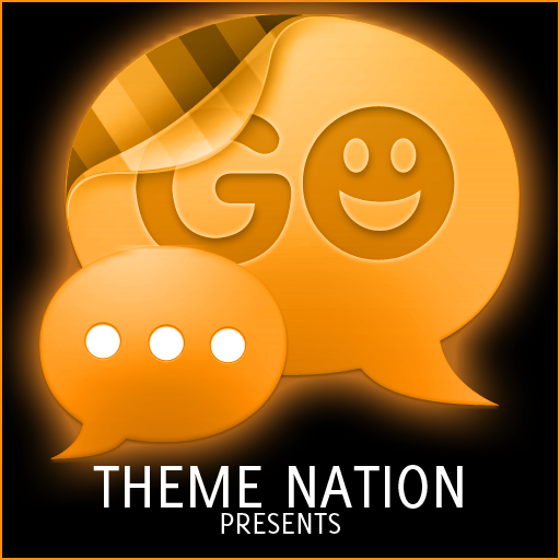 GO SMS Theme Orange Neon LOGO-APP點子