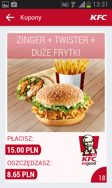 KFC Polska - screenshot