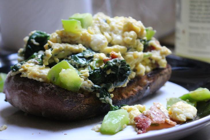 Open-Faced Breakfast Sandwich Recipe