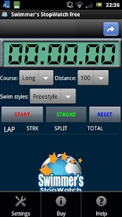 Swimmer's StopWatch free- screenshot thumbnail