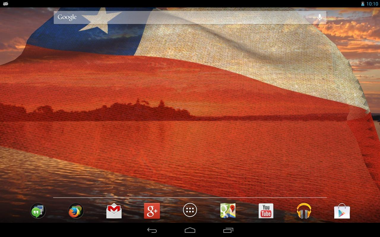 3D Chile Flag Live Wallpaper - screenshot