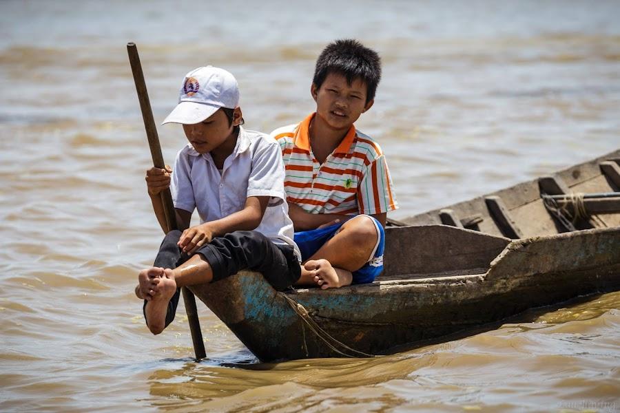 Ton le sap river by Lau Jiaying - Babies & Children Children Candids