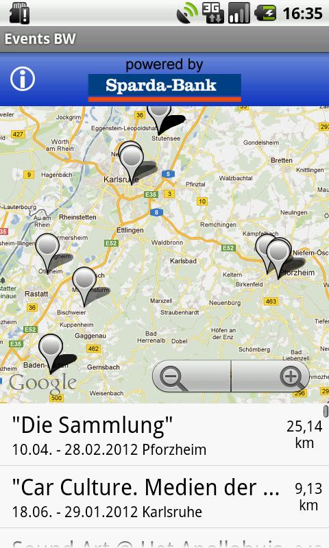 Events Baden-Württemberg - screenshot