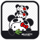 Hello Kitty Cute Panda Theme