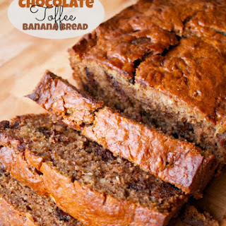 Chocolate Toffee Banana Bread
