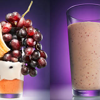 Peanut Butter and Grape Smoothie.