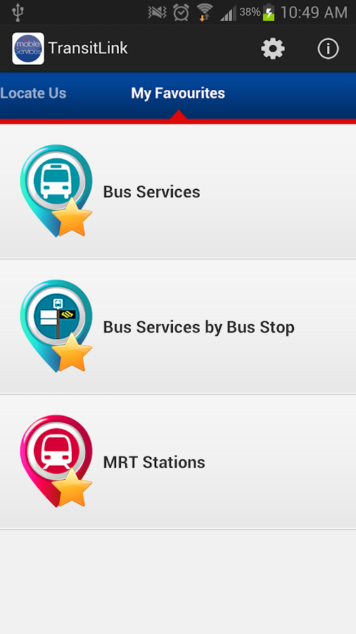 TransitLink Mobile Services - screenshot