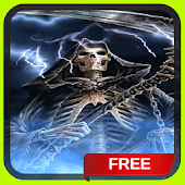 Blue Fire Grim Reaper Live Wallpaper Theme
