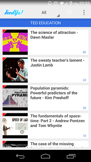 Feedya! RSS News Feedly screenshot for Android