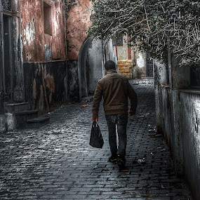 by Khuloud Elzwai - City,  Street & Park  Street Scenes ( walking, street, man, city )