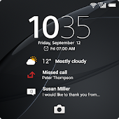 Xperia™ wallpaper: Black