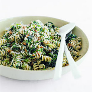 Fusilli with Spinach, Ricotta, and Golden Raisins.