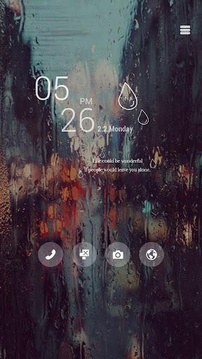 비오는 창가 버즈런처 테마 홈팩