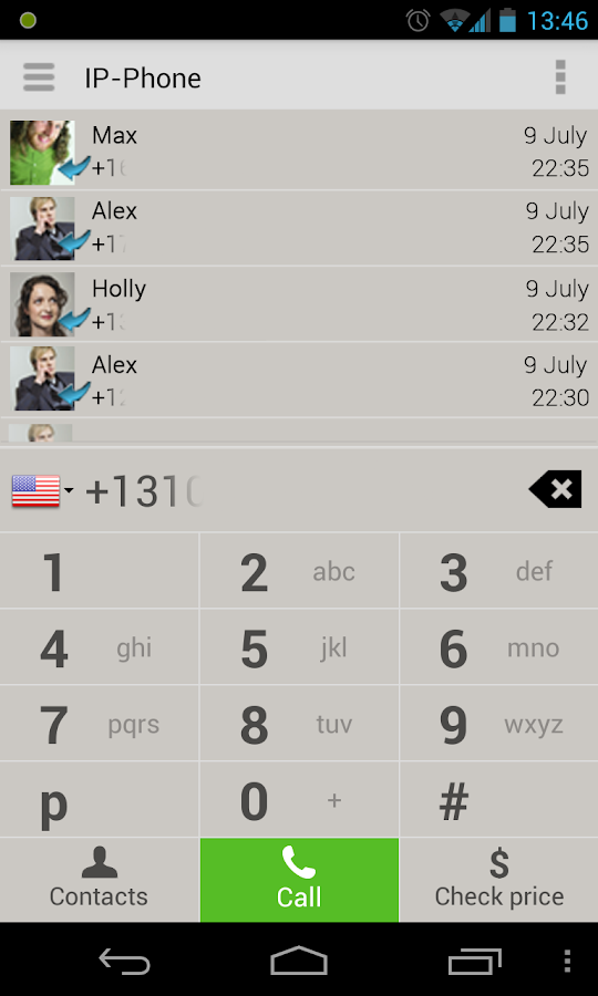 IP-Phone - cheap calls - screenshot
