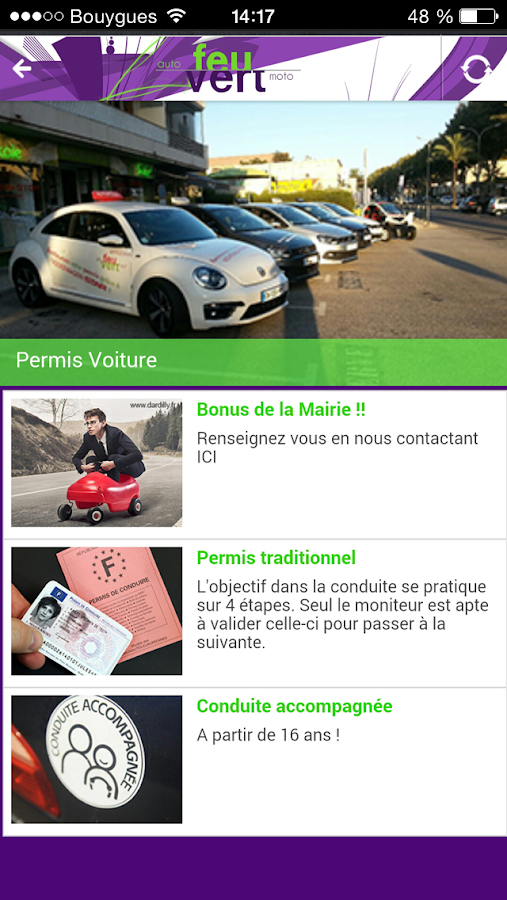 Auto cole feu vert android apps on google play for Feu vert comboire tel