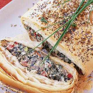 Mushroom, Cheese, and Vegetable Strudel