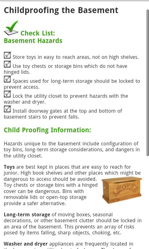 Childproof Guide - screenshot