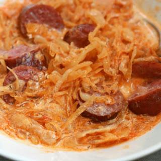 Sauerkraut and Sausage Paprikash