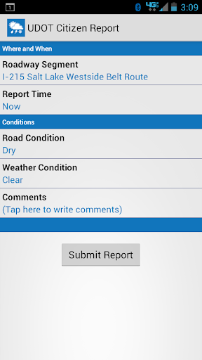 UDOT Citizen Reports