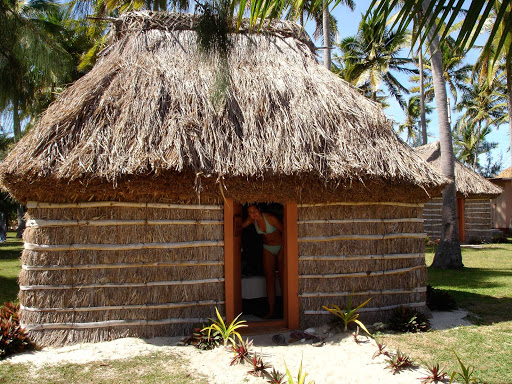village-home-fiji - A traditional village home in Fiji.