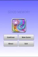Screenshot of GOOD MEMORY