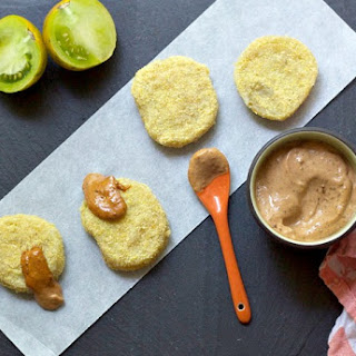 Fried Green Tomatoes with Smoked Tomato Basil Aioli