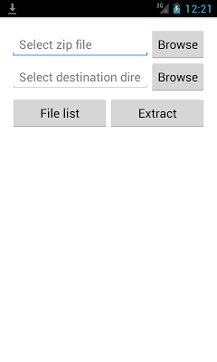 Unzip - screenshot