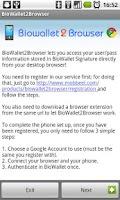 Screenshot of BioWallet2Browser