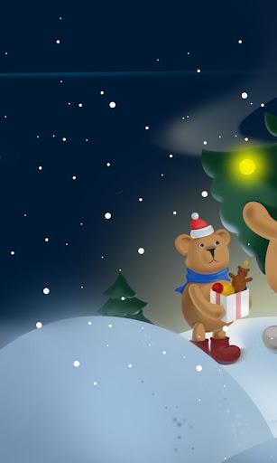 聖誕熊動態壁紙