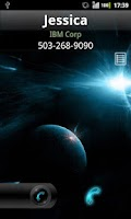 Screenshot of Rocket Caller ID Space Theme