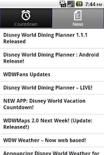 Disney World Countdown - screenshot thumbnail