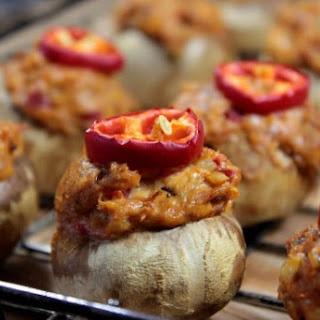 Smoked Pulled Pork Stuffed Mushrooms